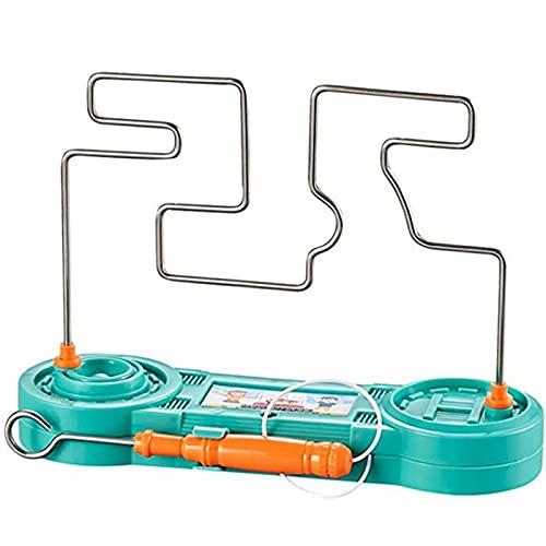 ELKeyko Enfants Collision Electric Choc Toy Education Electric Touch Maze Game Party Funny Jeu Science Experiment Jouets pour Enfants Cadeau (Color : Green)