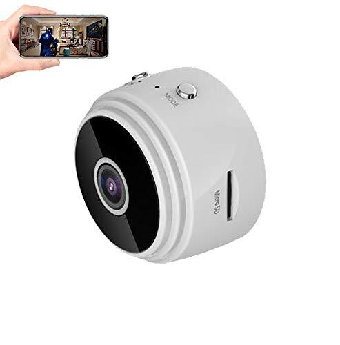 Mini cámara para Ver en el movil, Mini camaras, Mini cámara con visión de Movimiento, detección de Seguridad doméstica Oculta WiFi inalámbrica,Negra + 128G Tarjeta de Memoria