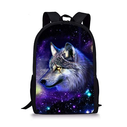 Showudesigns Cool Animal - Zaino Galaxy Star per bambini, Lupo 1. (Multicolore) - Z-CC3196C