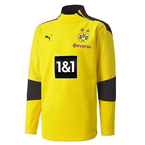 PUMA BVB Training Fleece Jr New Pullover, Cyber Yellow Black, 152