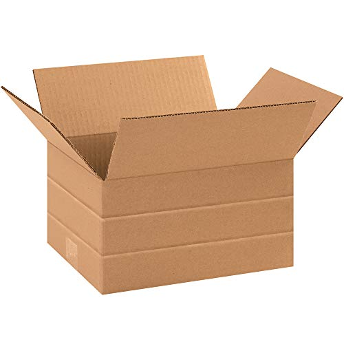 Aviditi MD1086 Multi-Depth Corrugated Cardboard Box, 10