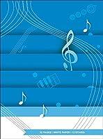 Quaderno Di Musica - 12 righi, 32 pp. carta Bianca