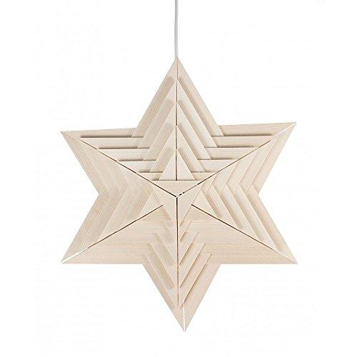 Dregeno Erzgebirge - Weihnachtsstern aus Holz elektrisch beleuchtet - Ø 40cm