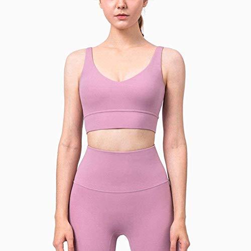 Cultivos Deportes Bras de la camiseta delgada sección de mujeres acolchado Tops fitness entrenamiento de la gimnasia yoga Correr Cami Bra, sin fisuras extraíble acolchado de bajo impacto for el funcio