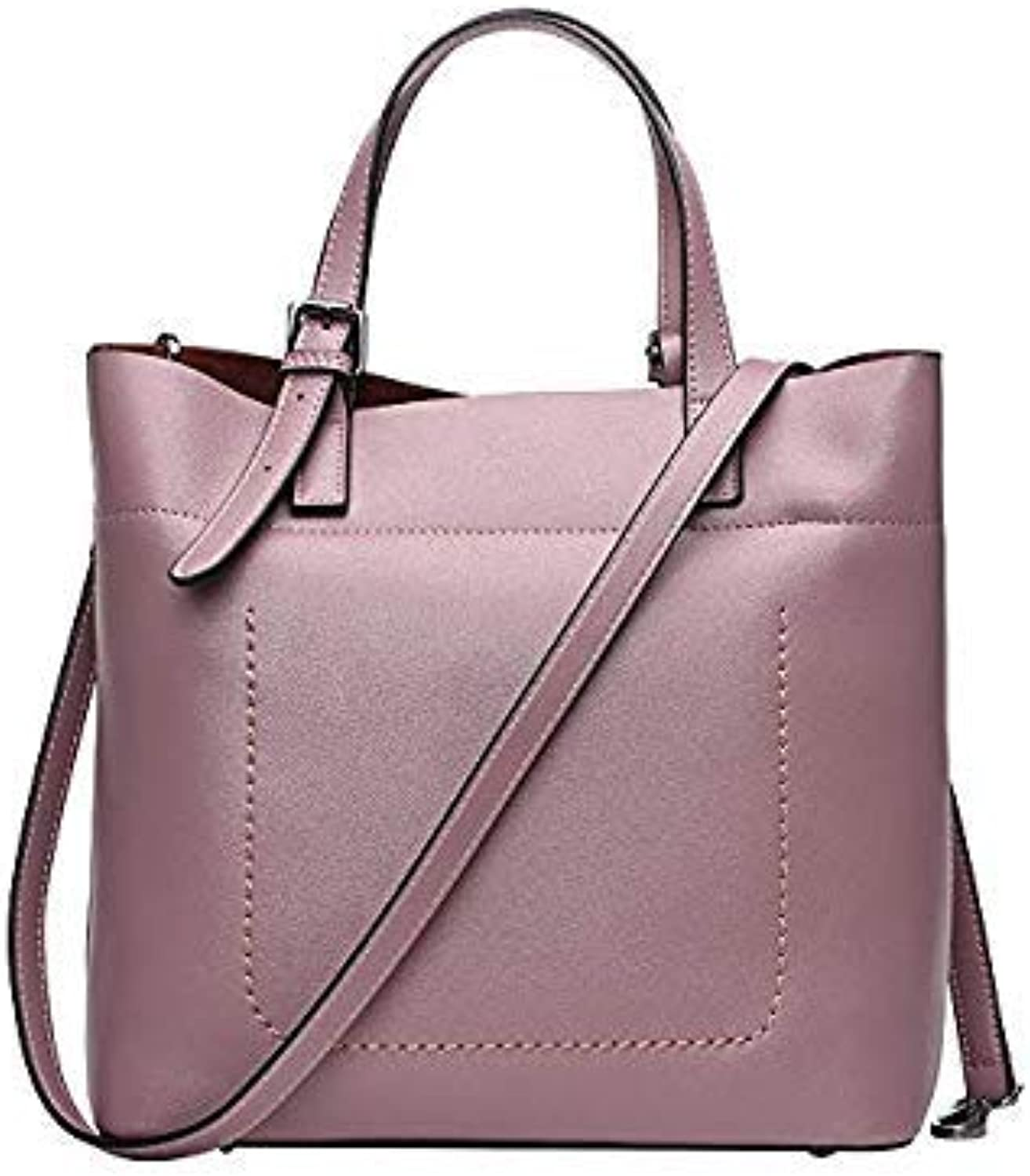 Bloomerang Vintage Women Shoulder Bag Female Casual Totes for Daily Shopping AllPurpose High Quality Genuine Leather Handbag color Purple