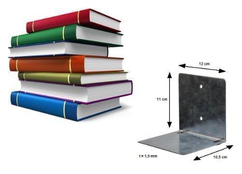 Unsichtbares Bücherregal aus Metall, schwebende Bücher