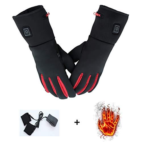 Außen beheizte Handschuhe, verdickt plus Samt intelligente Temperaturregelung kann Infrarot freigeben, wasserdichte Touchscreen Ski Motorradhandschuhe ( Farbe : Schwarz , Größe : L/XL )