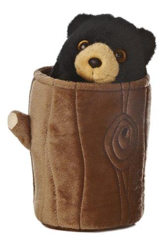 """Aurora - Hand Puppet - 10"""" Black Bear Pop Up Puppet"""