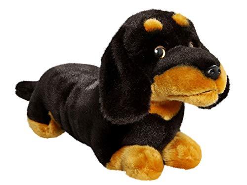Peluche - Perro Salchicha, Dachshund Negro (Felpa, 25cm)