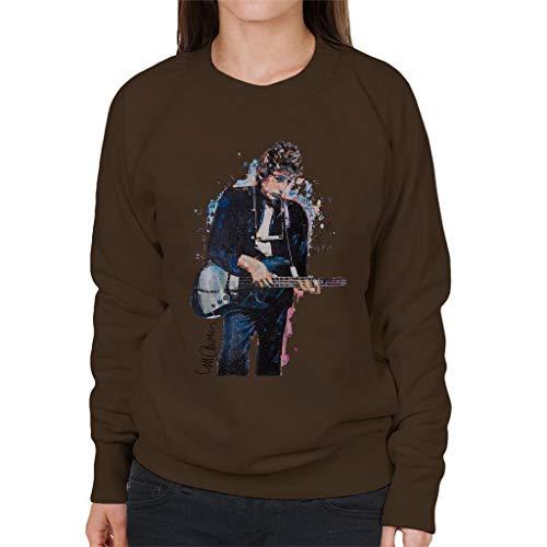 VINTRO Bob Dylan On Bass dames sweatshirt origineel portret van Sidney Maurer