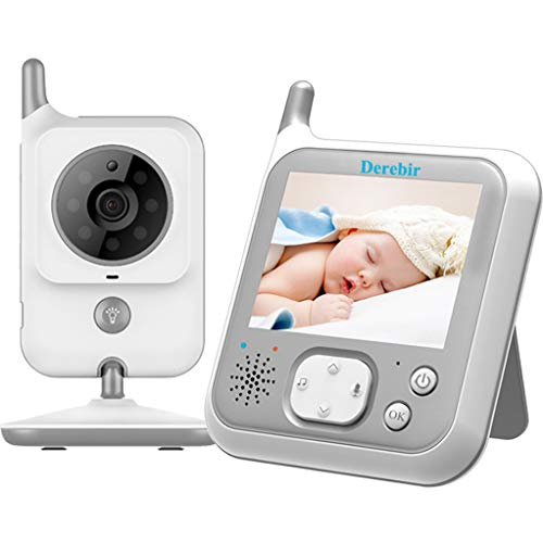 Video Baby Monitor with Camera Wireless 3.2 LCD Digital Screen Infrared Night Vision and LED Night Light Temperature Sensor 2 Way Talk Long Range 8 Lullabies VOX Auto Wake up