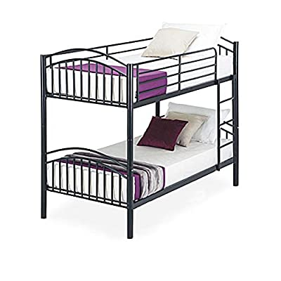 3FT Single Metal Bunk Bed Frame, 2-Storey 2 Sleepers Bed Frame Bunk Bed Can be Used as TWO Single Beds Bedroom Dorm Apartment for Adults Children Teenagers Twins
