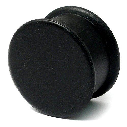 Flesh Plug Silikon, 18 mm Durchmesser, Schwarz
