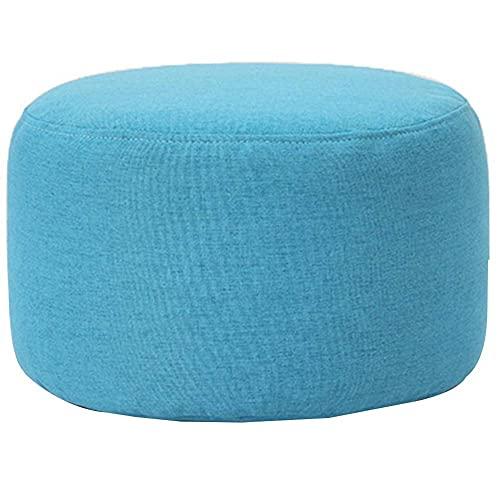 JXJ Taburete moderno para sofá creativo con cambio de zapatos, para sala de estar, taburete redondo (color: azul, tamaño: 37 x 24 cm)