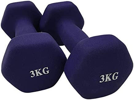 Genconnect Dumbbell(Sold In Pair),Purple,3kg, (Pack of 2)