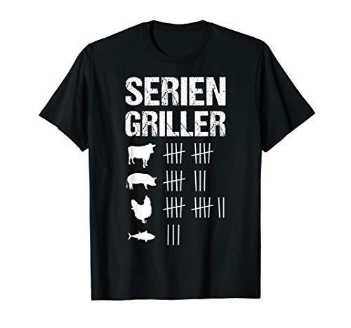 Herren Seriengriller Grillen Grillfan BBQ Barbecue Männer Geschenk T-Shirt