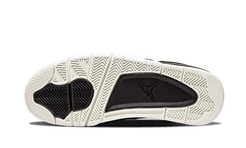 Nike Air Jordan 4 Retro Premium, Zapatillas de Deporte Hombre, Negro/Gris (Black/Black-Sail), 41