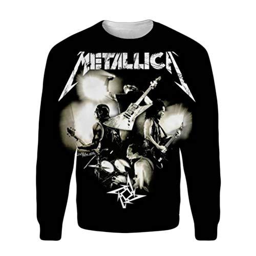 Hbkjhbvm Metallica Pullover Herbst Warme Sports Sweatshirt Klassische Basic Pullover Männer Alle Baumwolle Hoodies Standard Rundhalsmäntel Mode Klassische Outwear Unisex (Color : A07, Size : XL)