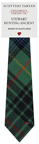 I Luv Ltd Garçon Tout Cravate en Laine Tissé et Fabriqué en Ecosse à Stewart Hunting Ancient Tartan