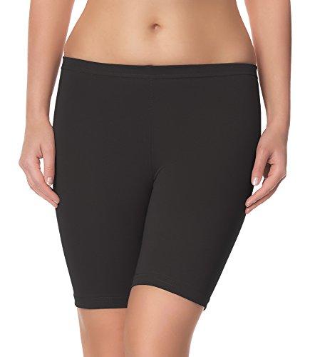 Ladeheid Damen Shorts Radlerhose Unterhose Hotpants Kurze Hose Boxershorts LAMA04 (Anthrazit15, 4XL/5XL)