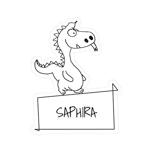 JOllipets Baby Kinder Aufkleber - Saphira - Variante: Tiere Zoo – Farbe: Design: Drache