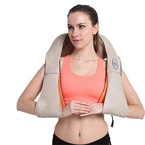 WODT Shiatsu-Nacken- und Schultermassagegerät, Tiefenknetmassage mit Muskelwärme Schmerzlinderung Entspannen Sie Sich im Büro, zu Hause und im Auto