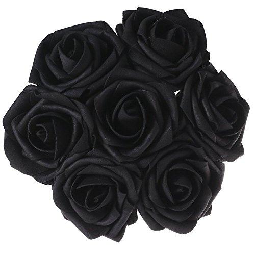 Bihood Künstliche Kunstblumen Faux Black Roses Künstliche Blumen Black Rose Schwarze Blumen Blume Für Hochzeitsort Dekorieren Künstliche Blumen Trauerblumen Halloween Dekoration