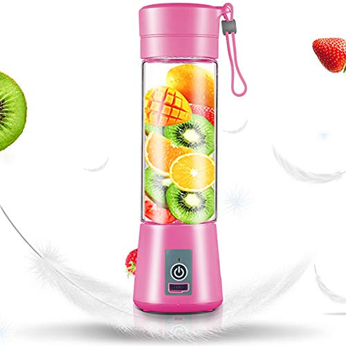 Portable Mini Blender,Personal Size Fruit Mixer,Smoothies Blender Cordless,USB Rechargeable,Bpa-Free,for Juices, Shakes and Smoothies