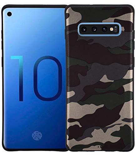 Favory Camouflage Design Silikon Case Premium TPU Tasche kompatibel mit Samsung Galaxy S10 Plus Hülle Schutzhülle Cover Shop