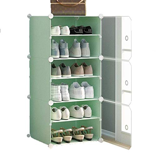 Diaod Pequeño Zapato Gabinete, Tela compartida a Prueba de Polvo Zapatos de Almacenamiento de Zapatos Estante, Verde, 44x32x96cm