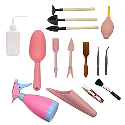 LepoHome 15 Pieces Succulent Transplanting Mini Garden Hand Tool Set for Indoor Gardening Plant Care