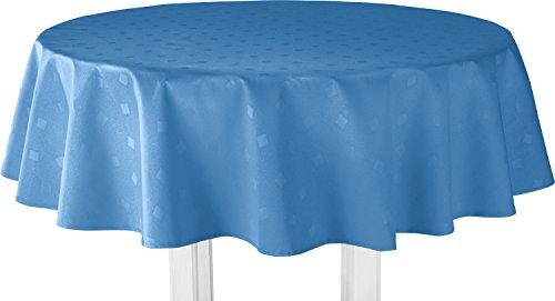 Erwin Müller Tischdecke Duisburg blau Größe oval: 140x190 cm