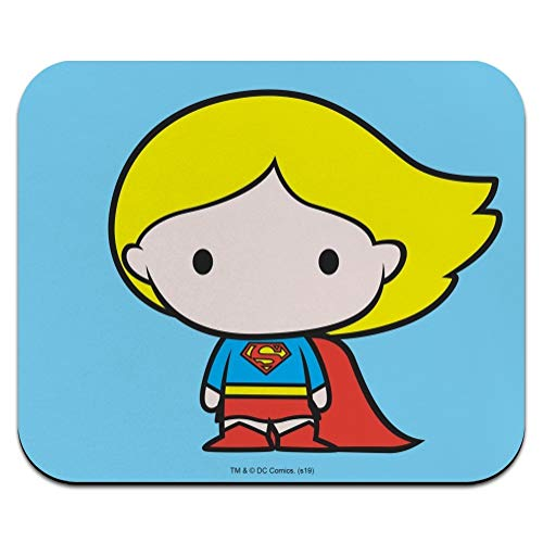 Superman Supergirl Cute Chibi Character Low Profile Thin Mouse Pad Mousepad
