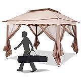 Outsunny 11' x 11' Pop Up Gazebo Canopy with...