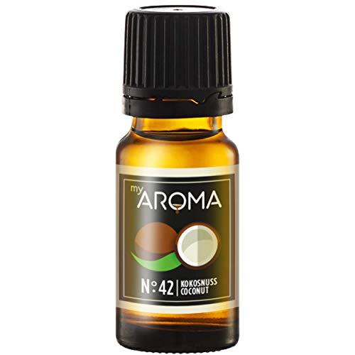 myAROMA | No. 42 (Kokosnuss, 10 ml) | Rein natürliches Aroma | Geschmackstropfen zum Kochen, Backen & Mixen | Zuckerfrei & ohne Süßung