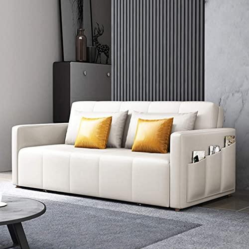 Home Equipment Sofá moderno tapizado en piel sintética Sofá cama convertible Sofá cama futón plegable para sala de estar compacta Dormitorio de apartamento Habitación adicional con reposabrazos ext