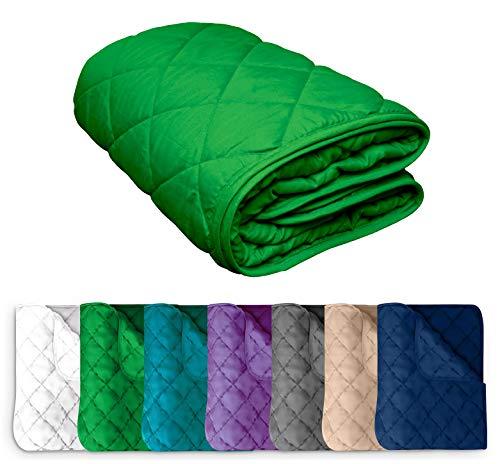 Microfaser Sommer Steppbett 135x200 OekoTex – grün Kochfest 95° Leichtsteppbett für Camping und heiße Tage I ohne Bezug verwendbar I farbig & bunt