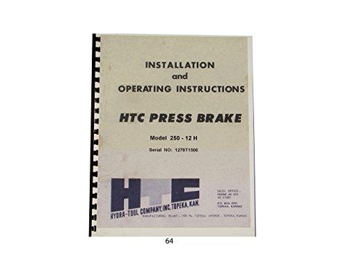 HTC Hydraulic Press Brake Model 250-12H Installation & Operating Manual