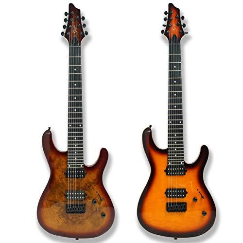 7 String Electric Guitar Bolt_On Maple Neck Poplar Wood Body (Burl poplar top body)