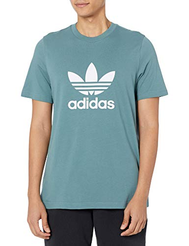 adidas Originals Camiseta Trefoil para hombre - verde - Small