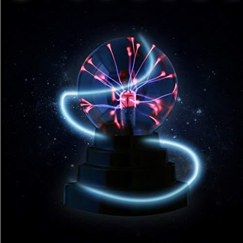 LEDMOMO Plasma Ball Lampe Licht [Touch Sensitive] Nebelfleck Kugel Globus Neuheit Spielzeug - USB oder Batterie angetrieben (Batterie nicht enthalten)