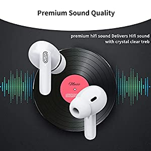 LeLerat Wireless Earbuds Bluetooth 5.0 Headphones Noise Canceling Ear Buds Earphone with Charging Case 3D Stereo Earpods Auto Pairing Built-in Mic 24H Play Time Bluetooth Earplugs for iPhone Android