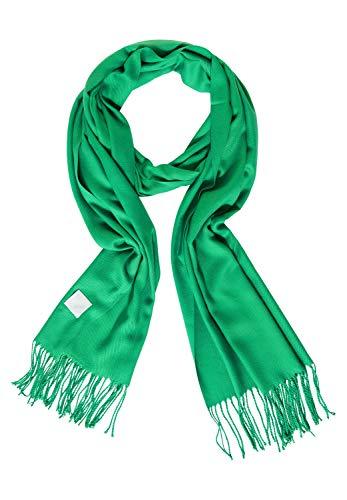 Cecil Damen Softer Schal mit Fransen peppermint green A Basic Style, Kuscheliges Material, Monochrom