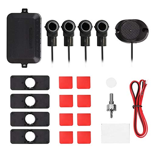 Affordable Udele-Store - 4 Sensors Buzzer Car Parking Sensor Kit Reverse Backup Radar Sound Alert In...