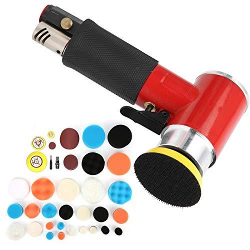 Exzentrische DIY Luftpoliermaschine Poliermaschine AT-1500R48 Rot zum Autowachsen(European style gas nozzle)