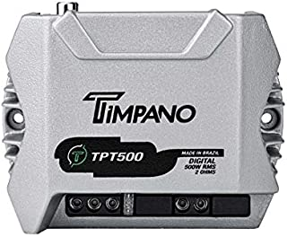 $94 » TIMPANO TPT-500 2 Ohms Compact 1 Channel TPT500 2 Ohms Car Audio Amplifier – 1x 500 Watts at 2 Ohms – Mini Stereo 12 Volts...