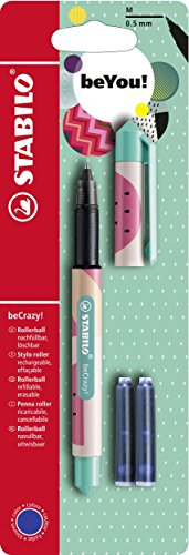 Tintenroller - STABILO beCrazy! FRUITS - Melone - Einzelstift - inklusive 3 Patronen