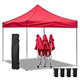 Homall 10X10 FT Pop Up Canopy Ez Up Canopy Tent Commercial Instant Shelter Patio Sun Shade Canopies with Roller Bag, 4...