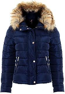 Taille 16 18 Neuf Femme Matelassé Rembourré Fermeture Éclair Popper veste femme manteau blanc