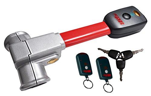 BETEC 8001102-2 SWAT PRO S LENKRADKRALLE MIT 2 FERNBEDIENUNGEN LENKRADSPERRE AUTOALARM